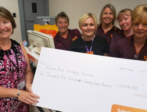 Sainsbury's Ripon rings up a cash donation for HELP