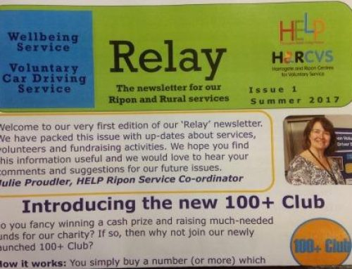 'Relay' newsletter for HELP's Ripon services is out now